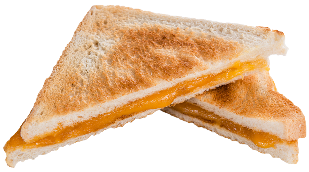 This is a picture of a grilled cheese sandwich.